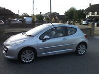 2007 Peugeot 207 1.6 GT THP 150 BHP, Only 44k, Service History, Panoramic Roof,