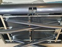Expandable height adjusting coffee table