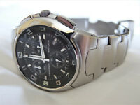 Festina Mens Chronograph Watch - boxed with instructions and spare links.