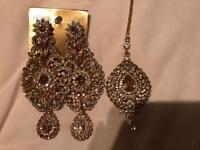 New earrings and head piece set