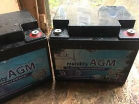 55ah mobility scooter batteries £100