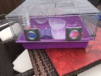 Large Hamster cage ,comes with wheel,water bottle,bed,activity wheel