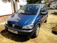 Vauxhall Zafira 7 seater 2003 Long mot ONLY 1 previous owner