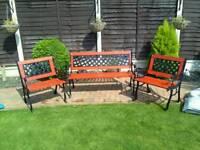Lovely garden bench set