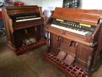 2 large reed organs