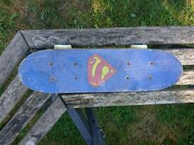 Superman small skateboard + FREE pads