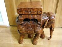 Carved Elephant from India or Thailand