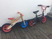 Balance bike and kids bike