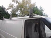 Factory 3 piece galvanised David Murphy roofrack with roller for swb ford transit
