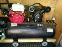 Heavy duty Air compressor petrol 100 liters
