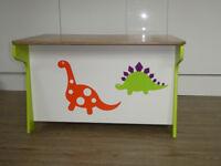 Kids Millhouse dinosaur toy box & desk