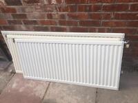 4 single radiators, used, various sizes (see below)