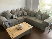 Sofa club Chingford double Corner couch- charcoal grey