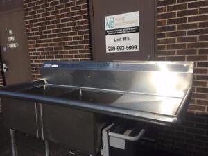 Used commercial stainless steel sinks. Different sizes.
