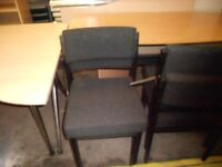 Black office reception chairs