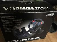 V3 racing wheel for PS2