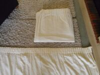 """Cream full length cotton lined curtains W90"""" L90"""""""