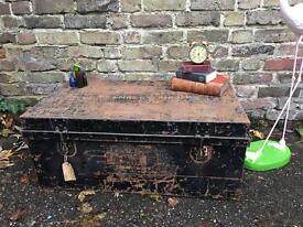 GENUINE VINTAGE CHEST TRUNK FREE DELIVERY