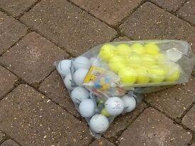 Golf balls and tees.