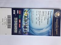 India V Pakistan Champions trophy 2017 3 GOLD tickets