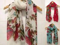 Brand new large size butterfly print scarf