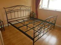 Super king size bed and bed side tables