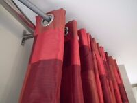 Beautiful interlined thermal silk curtains £40.00 ono