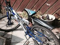 USA Huffy Boys Bike Silver and Blue 14 inch wheels in good condition 21 gears