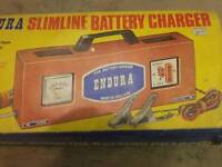 Retro car battery charger boxed classic