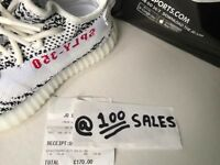 ADIDAS X Kanye West Yeezy Boost 350 V2 ZEBRA White/Black UK5 CP9654 JD RECEIPT 100sales