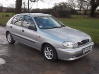 1999 DAEWOO LANOS 1.6, MOT OCTOBER 2017, ONLY 56,000 MILES, ONLY £395