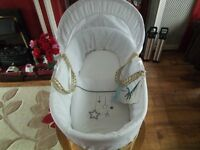 New moses basket with new rocking stand
