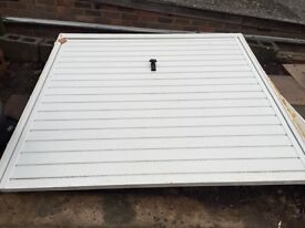 White garage door 2 years old perfect working order
