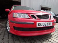 06 SAAB 9-3 1.8,4 DOOR,MOT FEB 017,2 OWNERS FROM NEW,2 KEYS,PART SERVICE HISTORY,VERY LOW MILEAGE