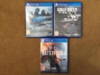 Ps4 game bundle - bf1, cod ghosts, need for speed.