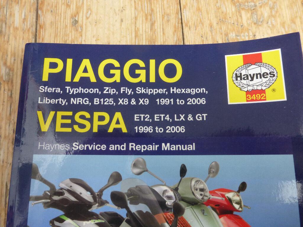 Piaggio Vespa Haynes Repair Manual Electronicswiring Diagram Daewoo Cielo 1996 Service Scooter In Good Condition