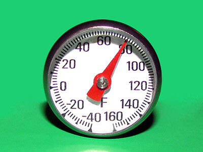 Pocket Dial Thermometer -40 To 160 F Degree Single Scale W Magnify Lens