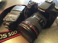 Canon 50D + canon 17-40L + 430exII speedlite + Battery grip