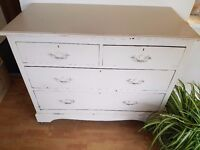 Shabby chic, new England Style, restored chest of Drawers.