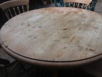 solid wood circular table &chairs