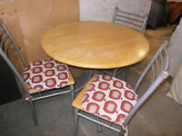 Solid beechwood kitchen table & four chairs