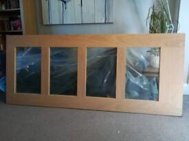 Shaker style glazed oak door