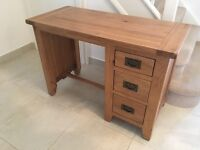 Solid Oak Dressing Table Desk