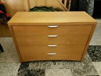 Chest of drawers with matching bed side cabinets