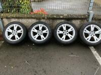 """Genuine 17"""" Audi alloys in good condition with tyres"""
