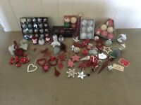 Various Christmas decorations