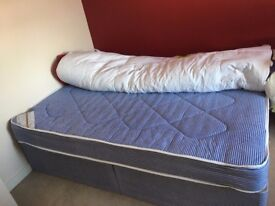 Double bed with base and mattress