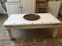 Coffee Table Large solid vintage Wooden shabby chic