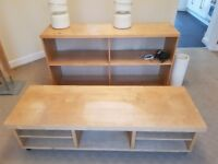 TV Unit and Matching Sideboard/bookshelf