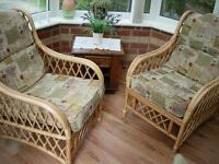 Two Cane Conservatory Chairs